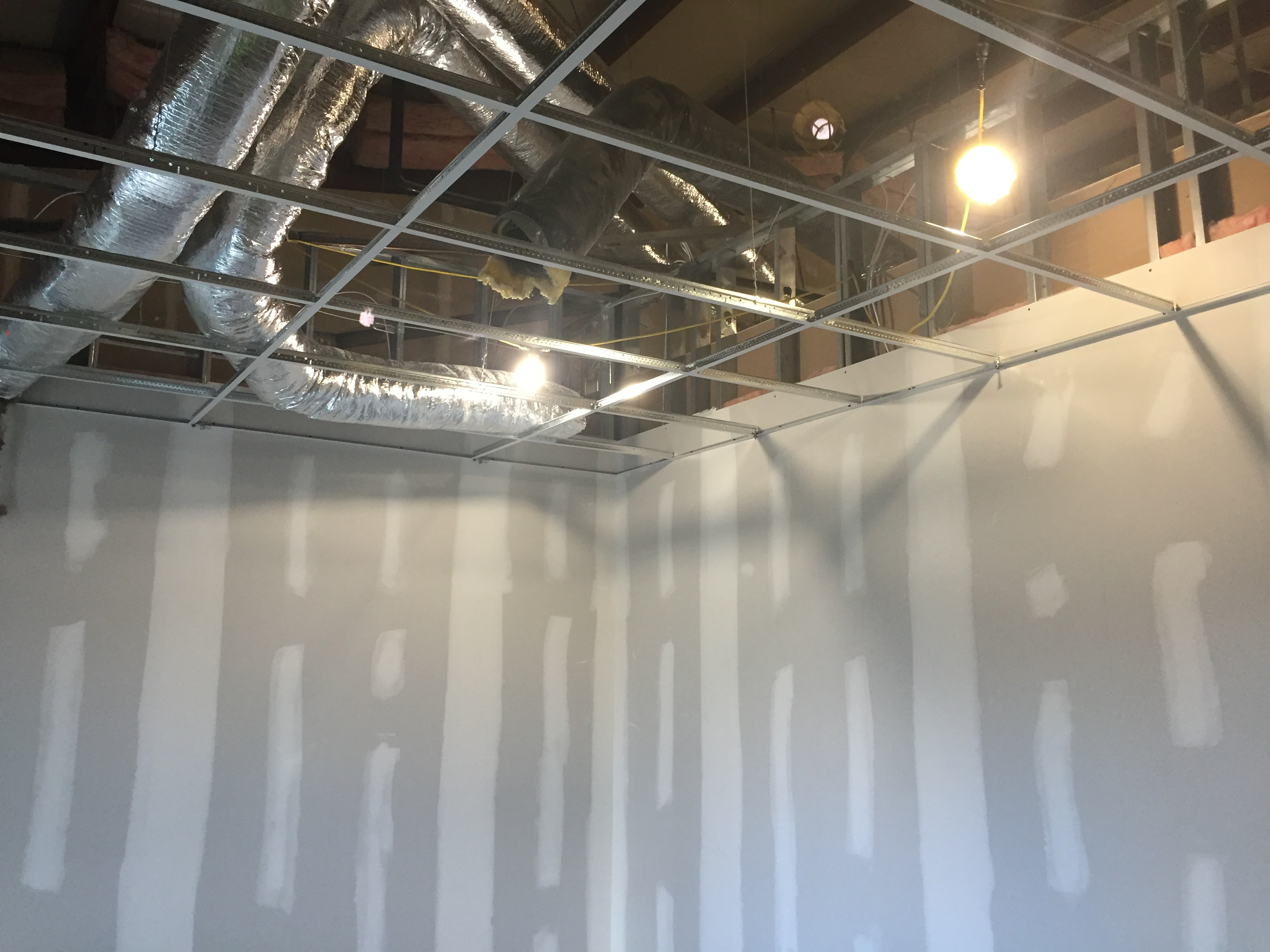 Drywall and Acoustical Tile Ceilings